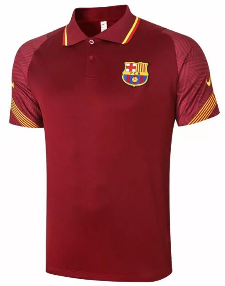 Barcelona Polo Jersey 2020-21 Red Football Shirts