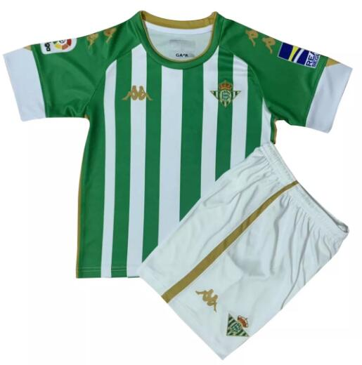 Real Betis Kids Soccer Jerseys 2020-21 Home Football Kits