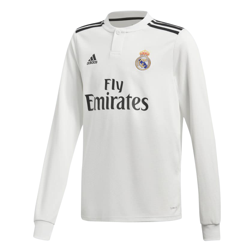 Real Madrid Long Sleeve Soccer Jerseys 2018-19 Home Football Shirts