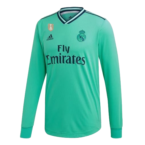 Real Madrid 19/20 Third Away Green Long Sleeve Jerseys Shirt
