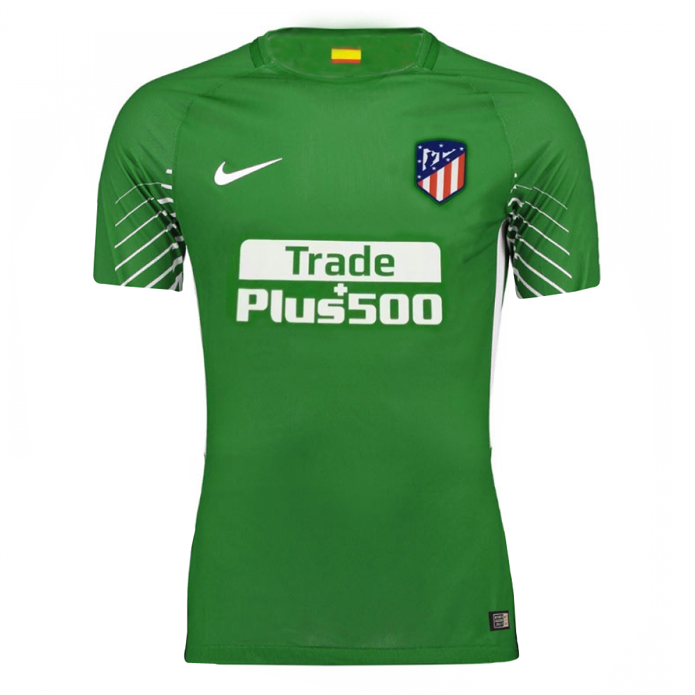 Atletico Madrid 2017-18 Green Goalkeeper Shirt Soccer Jersey