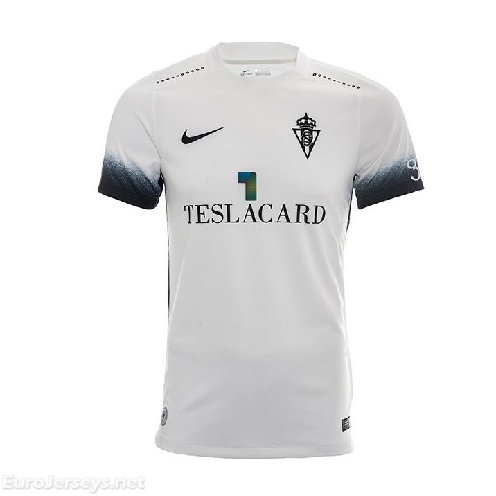 Real Sporting de Gijon 2017-18 Away Shirt Soccer Jersey