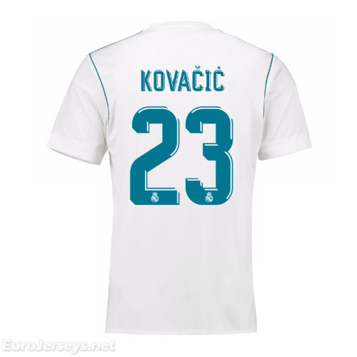Real Madrid 2017-18 Home Kovacic #23 Shirt Soccer Jersey