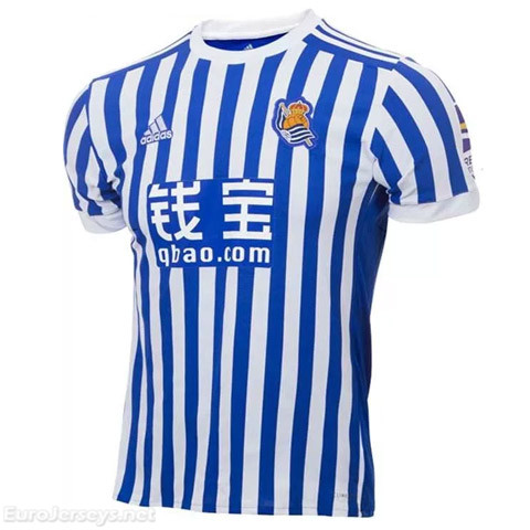 Real Sociedad 2017-18 Home Shirt Soccer Jersey