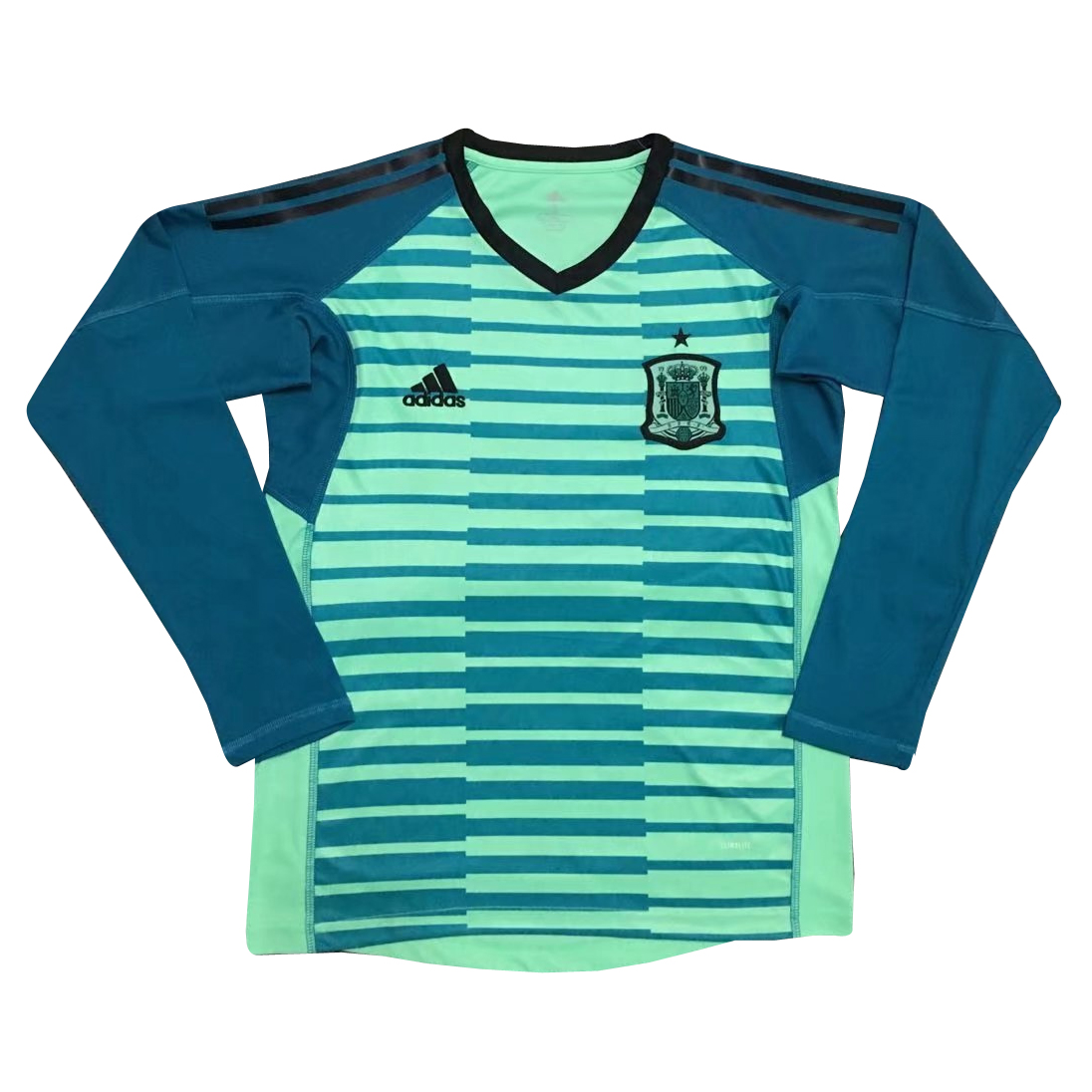 Spain Goalkeeper Soccer Jerseys 2018 World Cup Green LS Football Shirts