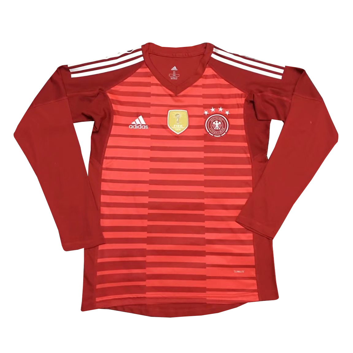 Germany Goalkeeper Soccer Jerseys 2018 World Cup Red LS Football Shirts