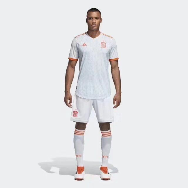 Spain Soccer Jerseys 2018 World Cup Away Football Kits (Shirt+Shorts)