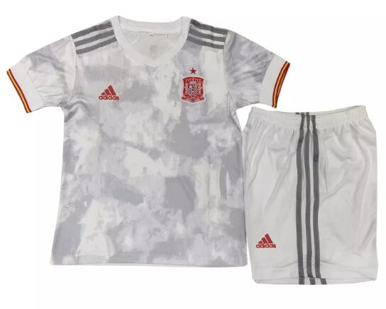 Spain Kids Soccer Suits 2020 EURO Away Football Kits