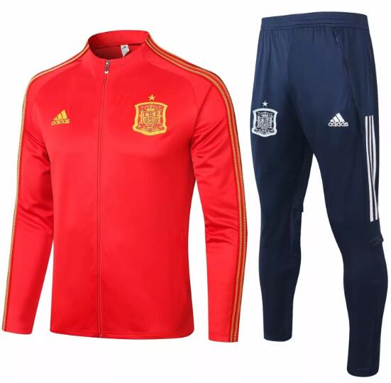 Spain Tracksuits 2020 Red Jacket + Pants