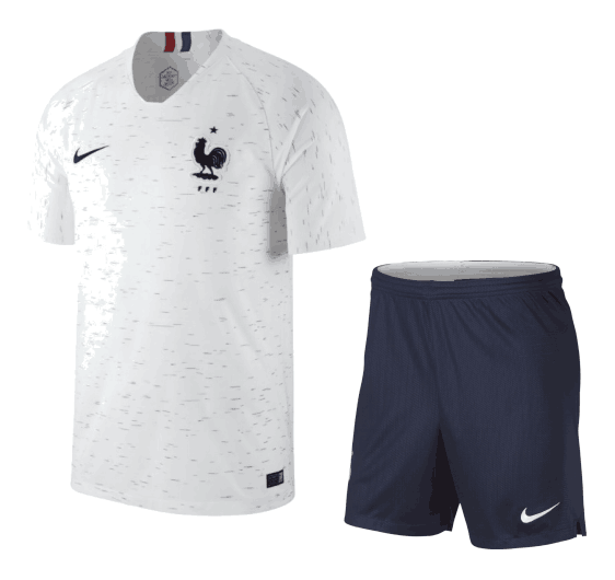 France Soccer Jerseys 2018 World Cup Away Football Kits (Shirt+Shorts)