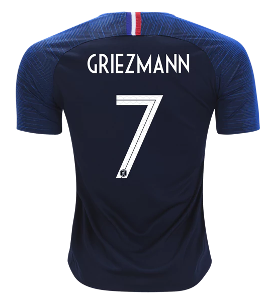 France Soccer Jerseys 2018 World Cup Antoine Griezmann Home Football Shirts