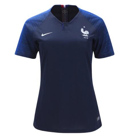 France Soccer Jerseys 2018 World Cup Home Women's Football Shirts