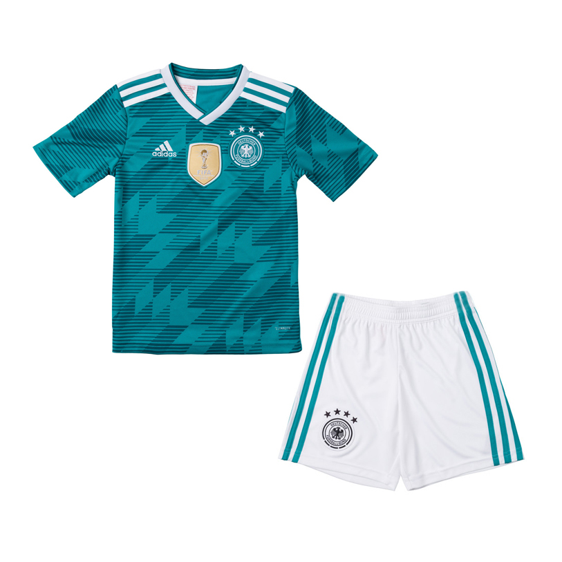 Kids Germany Away Soccer Jersey Kits 2018 World Cup (Shirt + Shorts)