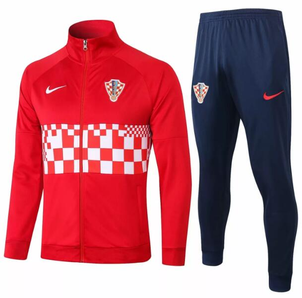 Croatia Tracksuits 2020 Red White Jacket Top + Pants