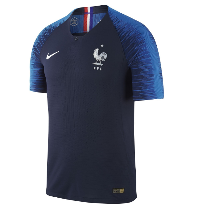 Match Version France Soccer Jerseys 2018 World Cup Home Football Shirts