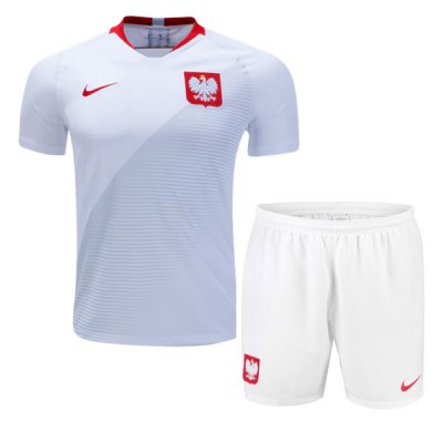 Poland Soccer Jerseys 2018 World Cup Home Football Kits (Shirt+Shorts)