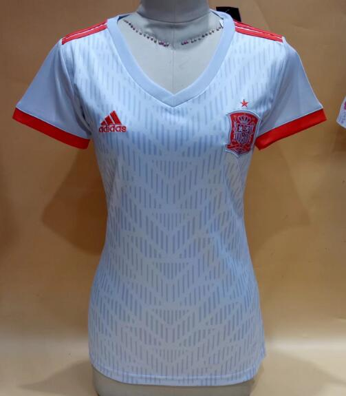 Spain Soccer Jerseys 2018 World Cup Away Women's Football Shirts