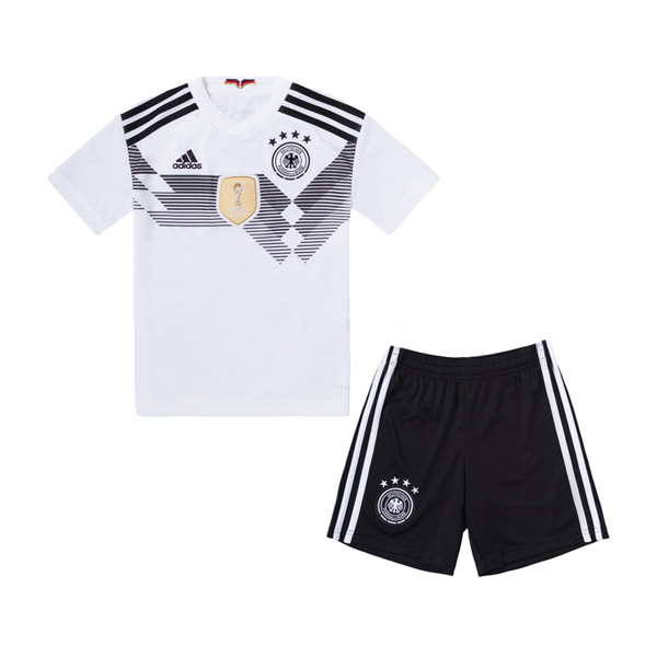 Germany 2018 World Cup Home Kids Soccer Kit Children Shirt And Shorts