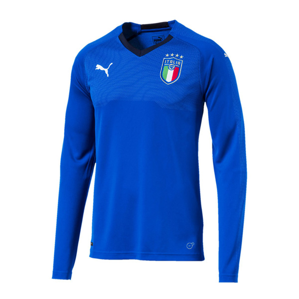Italy Home Long Sleeve Shirt Soccer Jersey 2018-19