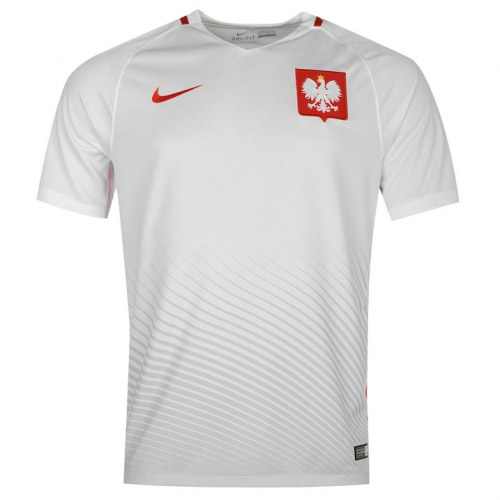Poland 2016-17 Home Shirt Soccer Jersey