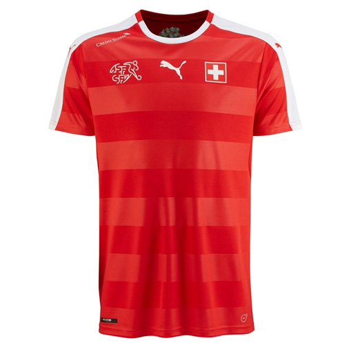 Switzerland 2016-17 Home Shirt Soccer Jersey