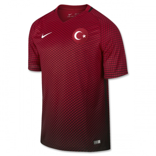 Turkey 2016-17 Home Shirt Soccer Jersey