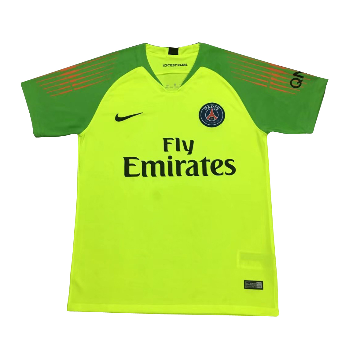best loved c8aef adcc6 PSG Goalkeeper Soccer Jerseys 2018-19 Green Football Shirts ...
