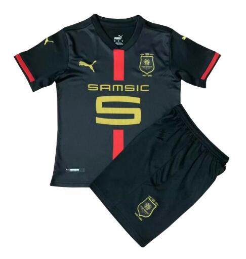 Stade Rennais Kids Soccer Sets 2020-21 120 Years Black Football Kits
