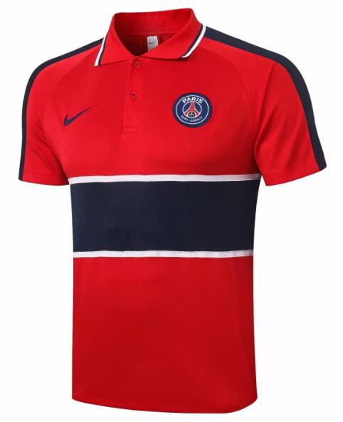 PSG Polo Jersey Shirts 2020-21 Red