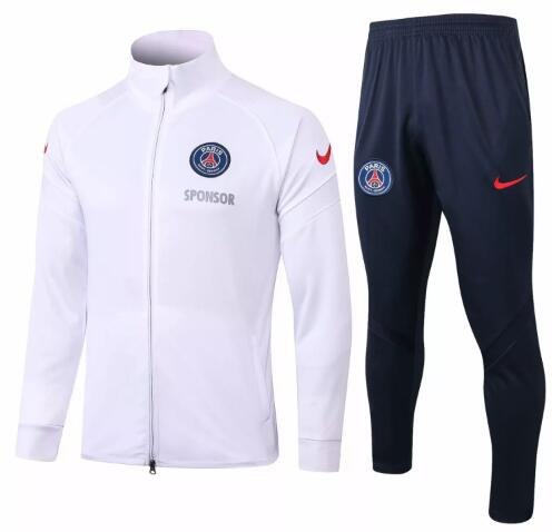 PSG Tracksuits 2020-21 White Jacket Top + Pants