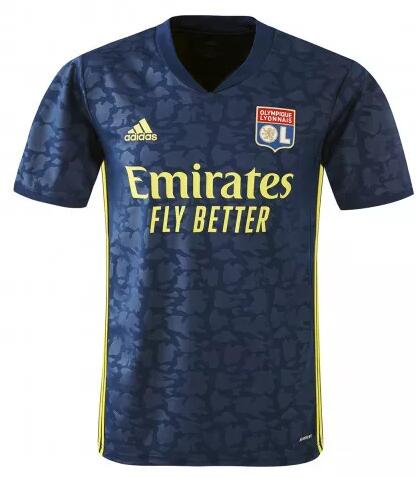 Olympique Lyonnais Soccer Jerseys 2020-21 Third Football Shirts