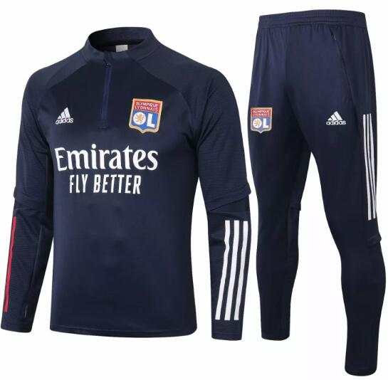 Olympique Lyonnais Training Kits 2020-21 Navy Top + Pants