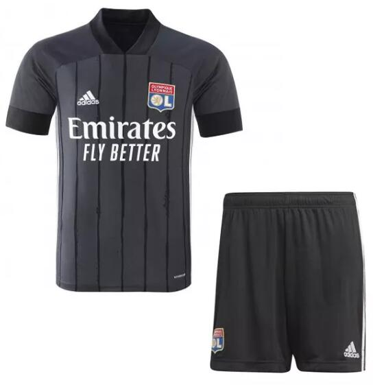 Olympique Lyonnais Kids Soccer Sets 2020-21 Away Football Kits