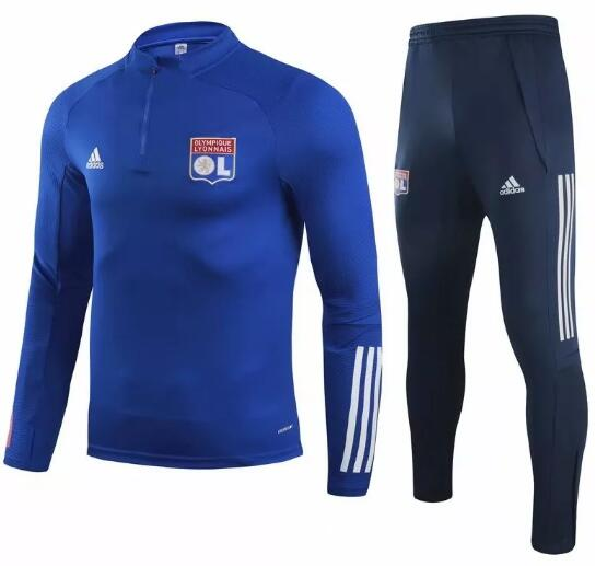 Olympique Lyonnais Training Kits 2020-21 Blue Top + Pants