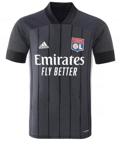 Olympique Lyonnais Soccer Jerseys 2020-21 Away Football Shirts