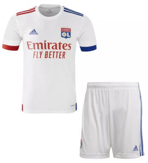 Olympique Lyonnais Kids Soccer Sets 2020-21 Home Football Kits