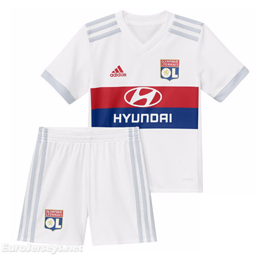 Olympique Lyonnais Home Best Wholesale Football Kit 2017-18 Kids Kit Children Shirt And Shorts
