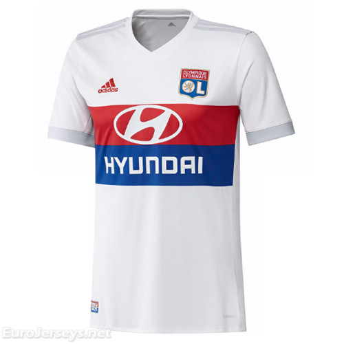 Olympique Lyonnais Home Best Wholesale Football Kit 2017-18 Cheap Soccer Jerseys