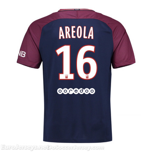 PSG 2017-18 Home Areola #16 Shirt Soccer Jersey