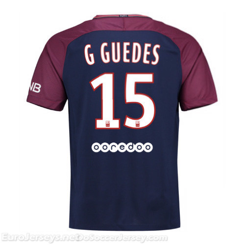 PSG 2017-18 Home G.Guedes #15 Shirt Soccer Jersey