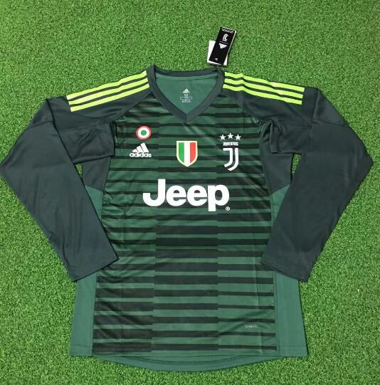 sports shoes 87da6 e9506 Juventus Goalkeeper Long Sleeve Soccer Jerseys 2018-19 Green ...