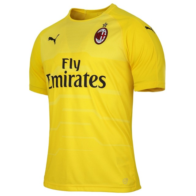 AC Milan Goalkeeper Soccer Jerseys 2018-19 Yellow Football Shirts