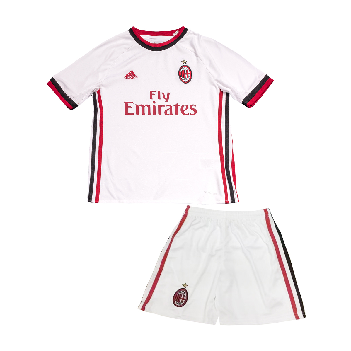 AC Milan Away Best Wholesale Football Kit 2017-18 Kids Soccer Kit Children Shirt And Shorts