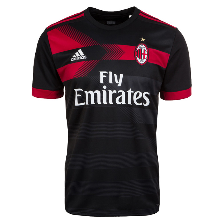 AC Milan 3rd Best Wholesale Football Kit 2017-18 Soccer Jersey Shirt Men - Match