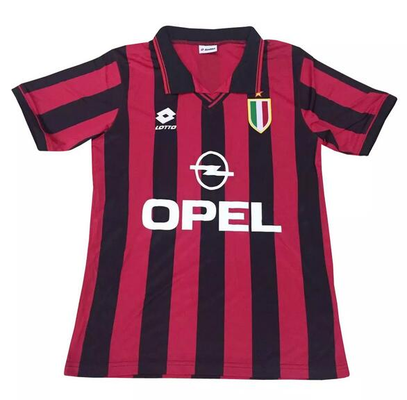 AC Milan Retro Soccer Jerseys 1996 Home Football Shirts