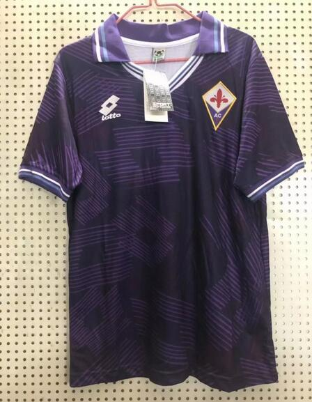 Fiorentina Retro Soccer Jerseys 1992-93 Home Football Shirts