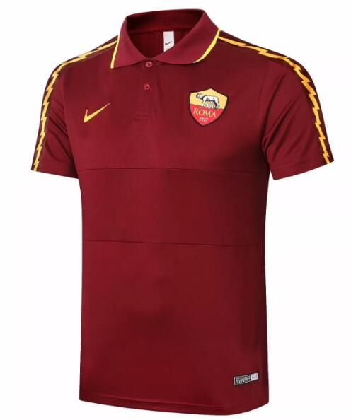 Roma Polo Jersey Shirts 2020-21 Red