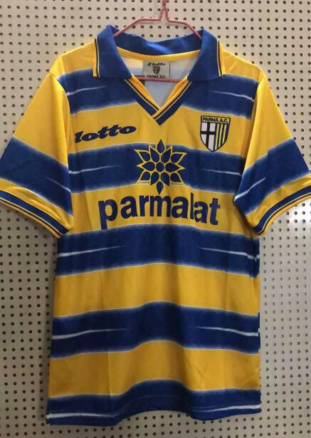 Parma Calcio Retro Soccer Jerseys 1998-99 Home Football Shirts