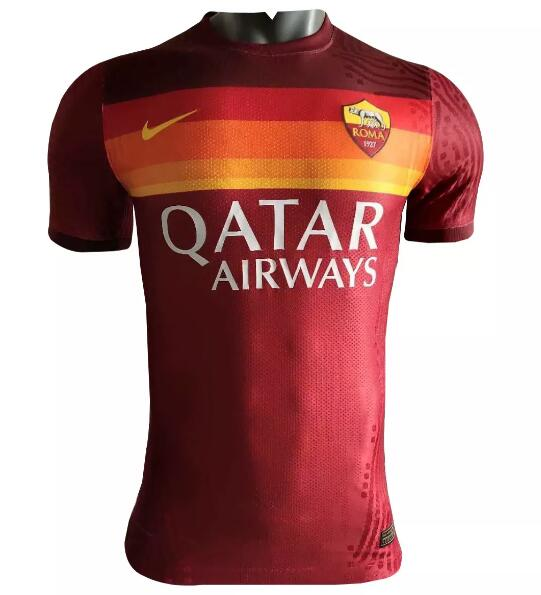 AS Roma Player Version Soccer Jerseys 2020-21 Home Football Shirts