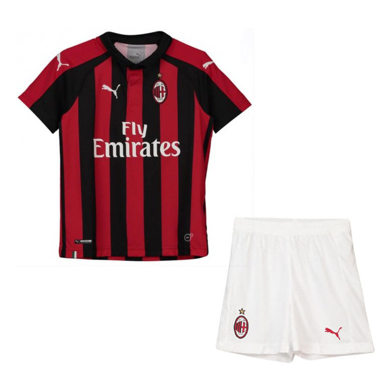 AC Milan Soccer Jerseys 2018-19 Home Football Kits (Shirt + Shorts)